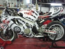 наклейки на мотоцикл хонда 600f4i